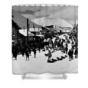 Klondike Street Scene Shower Curtain