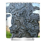 Knarly Tree Abstract Shower Curtain