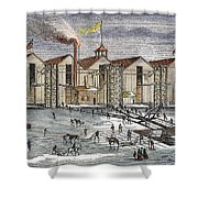 Knickerbocker Ice Co.,  C1846 Shower Curtain