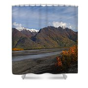 Knik River Shower Curtain