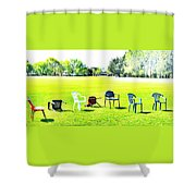 Knocked Down  Shower Curtain