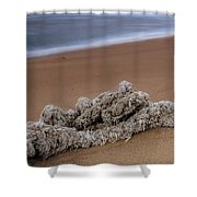 Knots On The Sand Shower Curtain