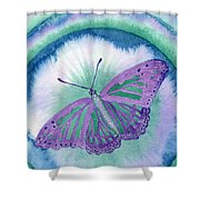 Knowingness Butterfly Shower Curtain