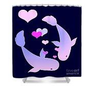 Koi In Love Shower Curtain