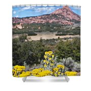 Kolob Terrace Red Buttes Shower Curtain