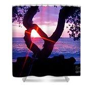 Kona Sunset Hawaii Shower Curtain