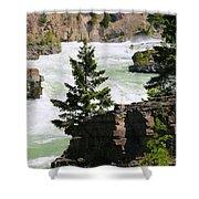 Kootenai Falls In Montana Shower Curtain