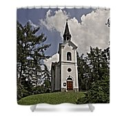 Kostel Panny Marie Lourdske Shower Curtain