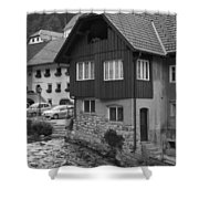 Kropa In Black And White Shower Curtain