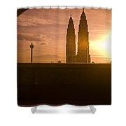 Kuala Lumpura Capital City Twin Towers Shower Curtain