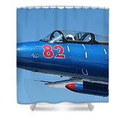 L-29 Delfin Standard Jet Trainer Shower Curtain