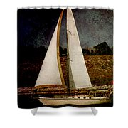 La Paloma Blanca Boat Shower Curtain