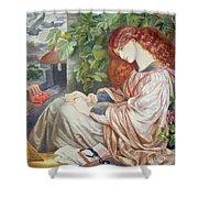 La Pia De Tolomei Shower Curtain by Dante Charles Gabriel Rossetti