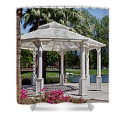 La Quinta Park Gazebo Shower Curtain