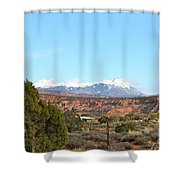 La Sal Mountains Shower Curtain