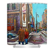 La Senza Peel Street Montreal Shower Curtain