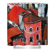 La Tour Rose In Lyon 2 Shower Curtain