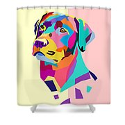 Labrador Portrait Shower Curtain
