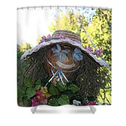 Lace And Straw Shower Curtain