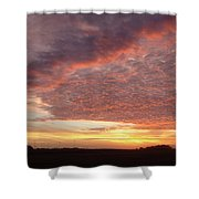 Lacy Pink Sunset Shower Curtain