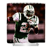 Ladainian Tomlinson - 01 Shower Curtain by Paul Ward