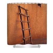 Ladder Against Adobe Wall Shower Curtain