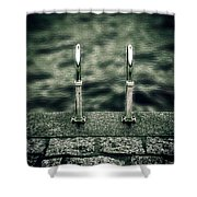 Ladder Shower Curtain by Joana Kruse