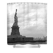 Lady And The Harbor Shower Curtain