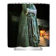 Lady By Lantern Light Shower Curtain