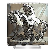 Lady Godiva Statue Shower Curtain