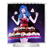 Lady In Flowers Shower Curtain