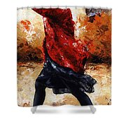 Lady In Red 28 Shower Curtain