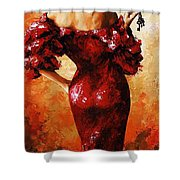 Lady In Red 33 Shower Curtain
