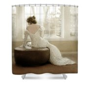 Lady In Sequin Gown Shower Curtain