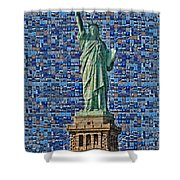 Lady Liberty Mosaic Shower Curtain
