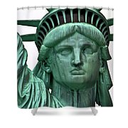 Lady Liberty Up Close Shower Curtain