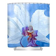Lady Orchid The Sky Beckons Shower Curtain