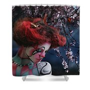 Lady Spring Silence Shower Curtain