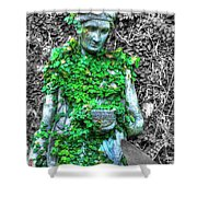 Lady Statue Shower Curtain