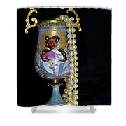 Lady Vase And Pearls Shower Curtain