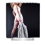 Lady With A Coat Shower Curtain