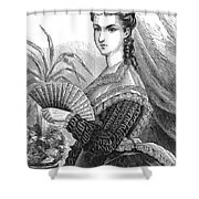 Lady With Fan, C1878 Shower Curtain