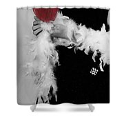 Lady With Heart Shower Curtain by Joana Kruse