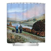Ladybower Reservoir - Derbyshire Shower Curtain