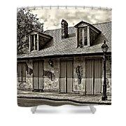 Lafittes Blacksmith Shop Bar In Sepia Shower Curtain