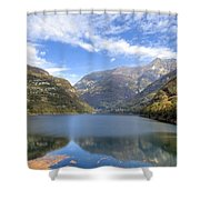 Lago Di Vogorno Shower Curtain