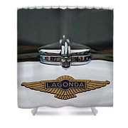 Lagonda Hood Emblem Shower Curtain