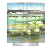 Lagoon In Spain Shower Curtain