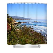 Laguna Beach California Coastline Shower Curtain