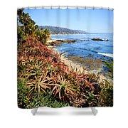 Laguna Beach Coastline Photo Shower Curtain